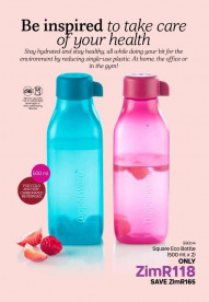 Tupperware 500ml Eco Bottles
